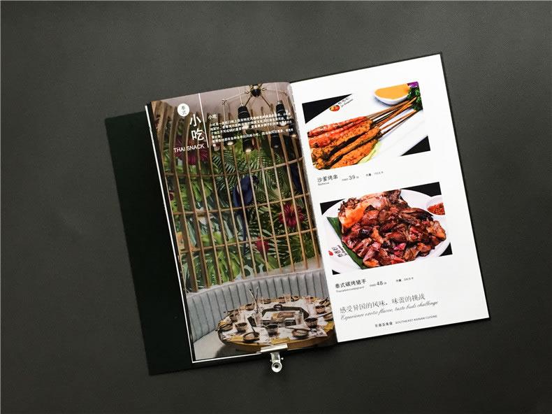 创意火锅店菜谱设计案例展示-泰国菜餐厅菜单设