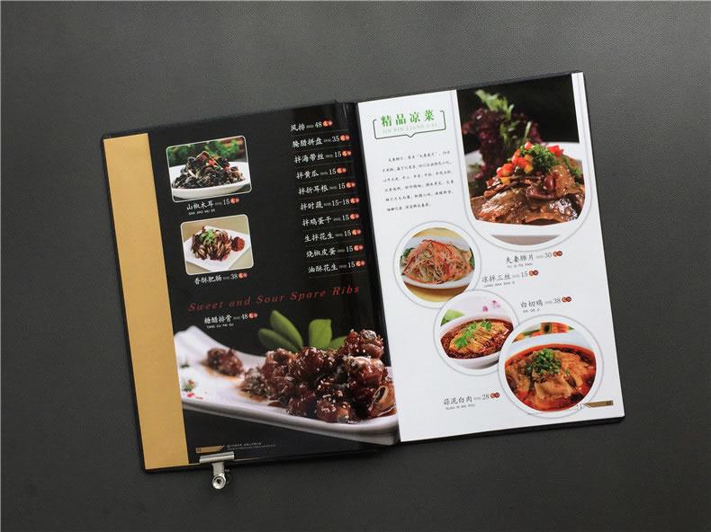 专业菜谱制作公司所做的有文化内涵的菜谱,很有