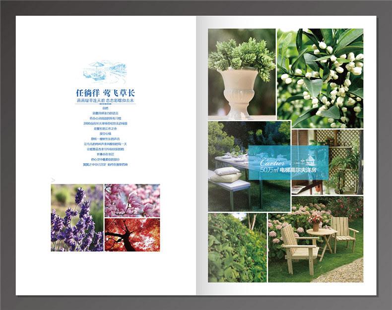 地产楼书设计之花园洋房户型图宣传单设计 不要