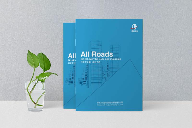 公司宣传画册设计制作_保山市道和测绘公司宣传